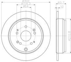 Комплект тормозных дисков TEXTAR 92227203 (2 шт.)