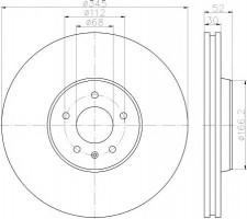 Комплект тормозных дисков TEXTAR 92229203 (2 шт.)