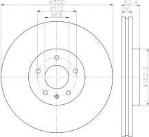 Комплект тормозных дисков TEXTAR 92229303 (2 шт.)