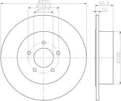 Комплект тормозных дисков TEXTAR 92234803 (2 шт.)