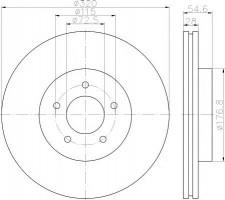 Комплект тормозных дисков TEXTAR 92235403 (2 шт.)