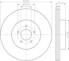 Комплект тормозных дисков TEXTAR 92235503 (2 шт.)