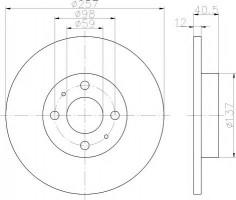 Комплект тормозных дисков TEXTAR 92236703 (2 шт.)