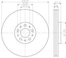 Комплект тормозных дисков TEXTAR 92237600 (2 шт.)