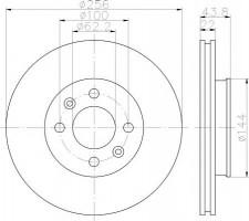Комплект тормозных дисков TEXTAR 92237903 (2 шт.)