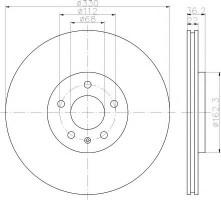 Комплект тормозных дисков TEXTAR 92238303 (2 шт.)