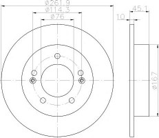 Комплект тормозных дисков TEXTAR 92240003 (2 шт.)