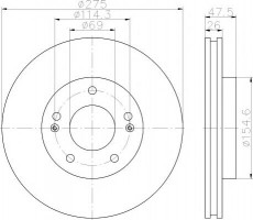 Комплект тормозных дисков TEXTAR 92240703 (2 шт.)