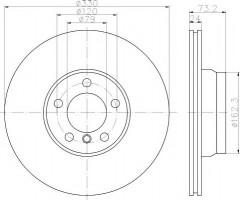 Комплект тормозных дисков TEXTAR 92242003 (2 шт.)