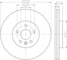 Комплект тормозных дисков TEXTAR 92243303 (2 шт.)