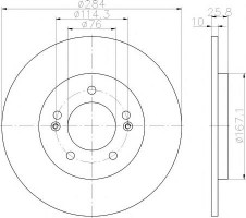 Комплект тормозных дисков TEXTAR 92252703 (2 шт.)