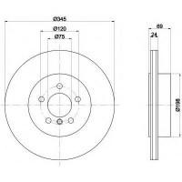 Комплект тормозных дисков TEXTAR 92253903 (2 шт.)