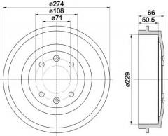 Тормозной барабан TEXTAR 94010300