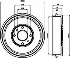 Тормозной барабан TEXTAR 94014000