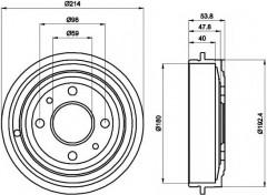 Тормозной барабан TEXTAR 94014800