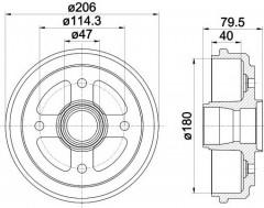 Тормозной барабан TEXTAR 94026200