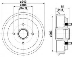 Тормозной барабан TEXTAR 94026700