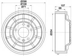 Тормозной барабан TEXTAR 94032900