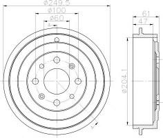 Тормозной барабан TEXTAR 94034100