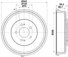 Тормозной барабан TEXTAR 94035800