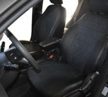 Авточехлы из экокожи L-LINE для салона Hyundai Accent (Solaris) '11-, седан, седан, с деленой спинкой (AVTO-MANIA)