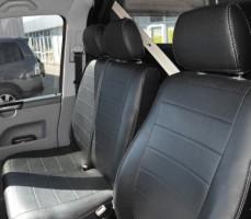 Авточехлы из экокожи S-LINE для салона Volkswagen Transporter T5 '03-15 (1+2) (AVTO-MANIA)