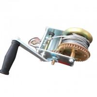 Лебедка рычажная барабанная стальной трос 900 кг GT1455 (Intertool)