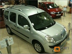 Рейлинги для Renault Kangoo '09-, хром (crown-дизайн)