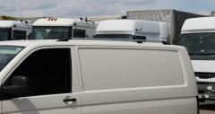 Рейлинги для Volkswagen Transporter T5 '03-15, кор. база, хром (пласт. концевик)