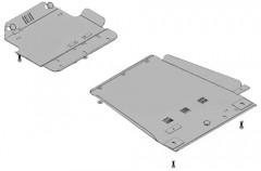 Кольчуга Защита двигателя + защита КПП для Lexus LX '02-07, V-4,2TD, АКПП (Кольчуга)