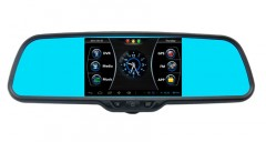 Зеркало заднего вида со встроенным монитором, видеорегистратором, GPS, Android Prime-X 043/105
