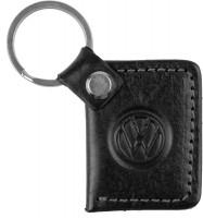 """Брелок для ключей черный с логотипом """"Volkswagen"""""""