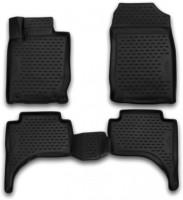 Novline Коврики в салон 3D для Mitsubishi L200 '16- полиуретановые, черные (Novline)