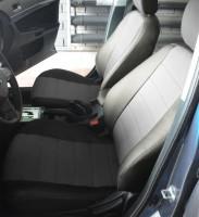 Авточехлы из экокожи S-LINE для салона Mitsubishi Lancer X (10) '07-12, мотор 2. 0, серая вставка (AVTO-MANIA)