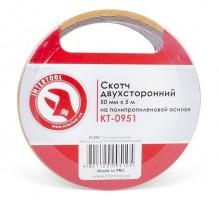 Скотч двухсторонний 50 мм*5 м на полипропиленовой основе KT-0951 (Intertool)