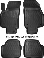 Коврики в салон для Renault Talisman '15-, полиуретановые, черные (L.Locker)