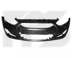 Передний бампер для Hyundai Accent (Solaris) '11- черн. (FPS)