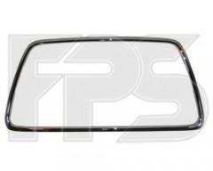 Рамка решетки в бампере для Mitsubishi Lancer X (CY) 12-, (CX) Ralliart '08-10, хром. (FPS)