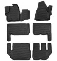 Фото 1 - Коврики в салон 3D для Ford Tourneo Custom  '13- полиуретановые (Novline) 9 мест