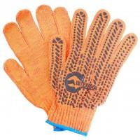 """Перчатки оранжевые хлопчатобумажные, с резиновым вкраплением 9"""" SP-0135 (Intertool)"""