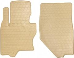 Коврики в салон передние для Infiniti FX (QX70) с 2009, резиновые, бежевые (Evolution)