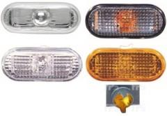 Указатель поворота на крыле Volkswagen Touran 2010 - 2015 левый/правый, белый (рифленый, с бел. вставкой) (FPS)