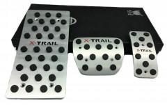 Фото 2 - Накладки на педали NISSAN X-Trail T32 АКПП 3 шт. (J-tec)