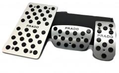Накладки на педали Prado АКПП 3 шт. (J-tec)