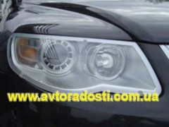 Защита фар для Volkswagen Touareg '07-10 прозрачная 2 шт. (EGR)