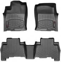 Фото 1 - Коврики в салон для Toyota LC Prado 150 2010 - 2013 черные, резиновые 3D (WeatherTech)