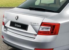 Спойлер багажника для Skoda Octavia A7 с 2013 V2 под покраску (AutoPlast)