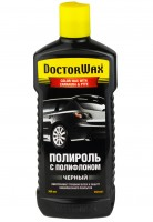 DoctorWax Цветной полироль с полифлоном, черный 300 мл.