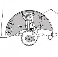Подкрылок передний правый для Mazda CX-7 2010 - 2012 (Novline)