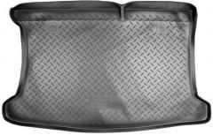 Коврик в багажник для Kia Rio '11-15 хетчбэк, полиуретановый (NorPlast) черный